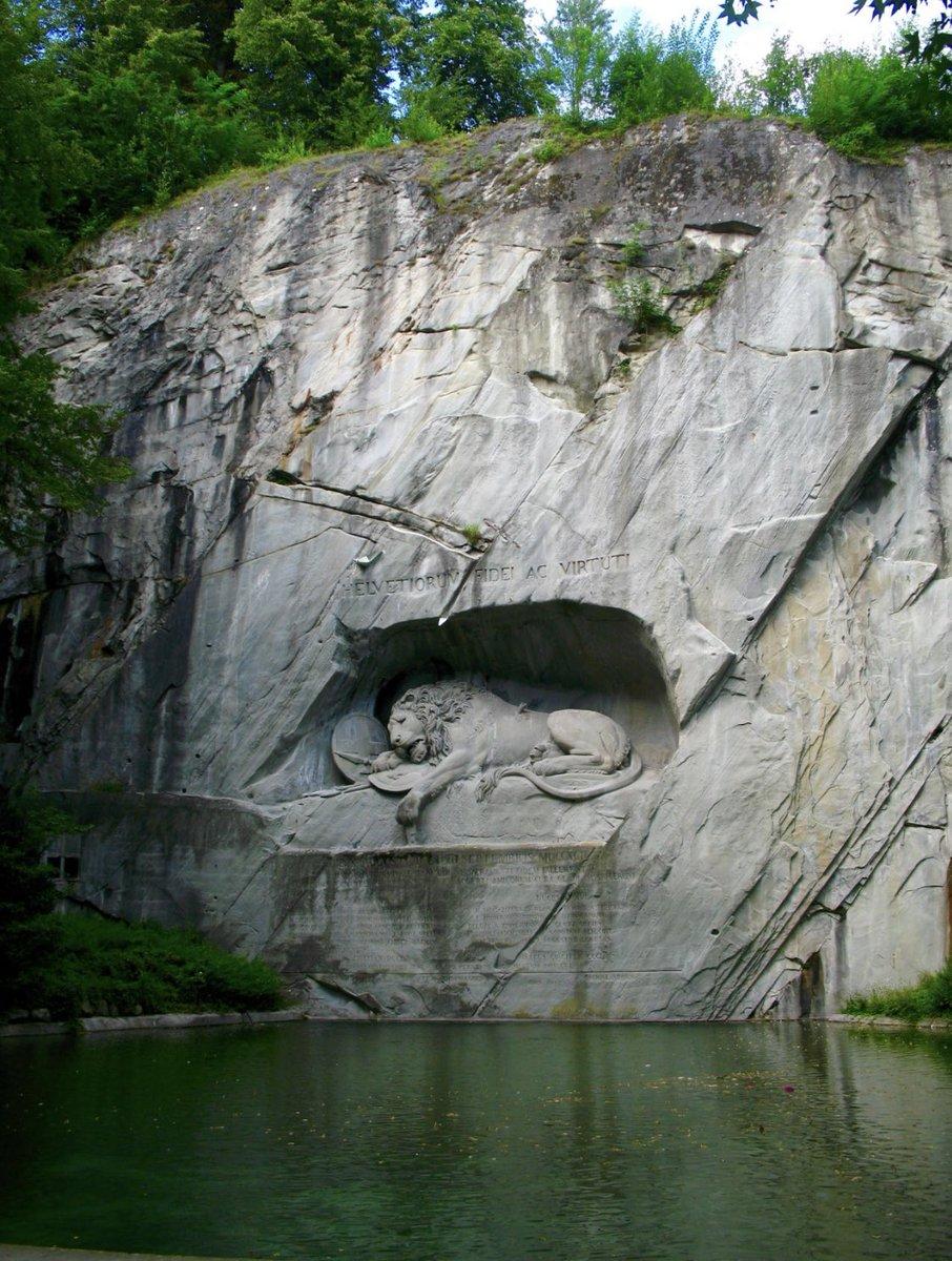 The Lion Monument is a rock relief in Lucerne, Switzerland, designed by Bertel Thorvaldsen.