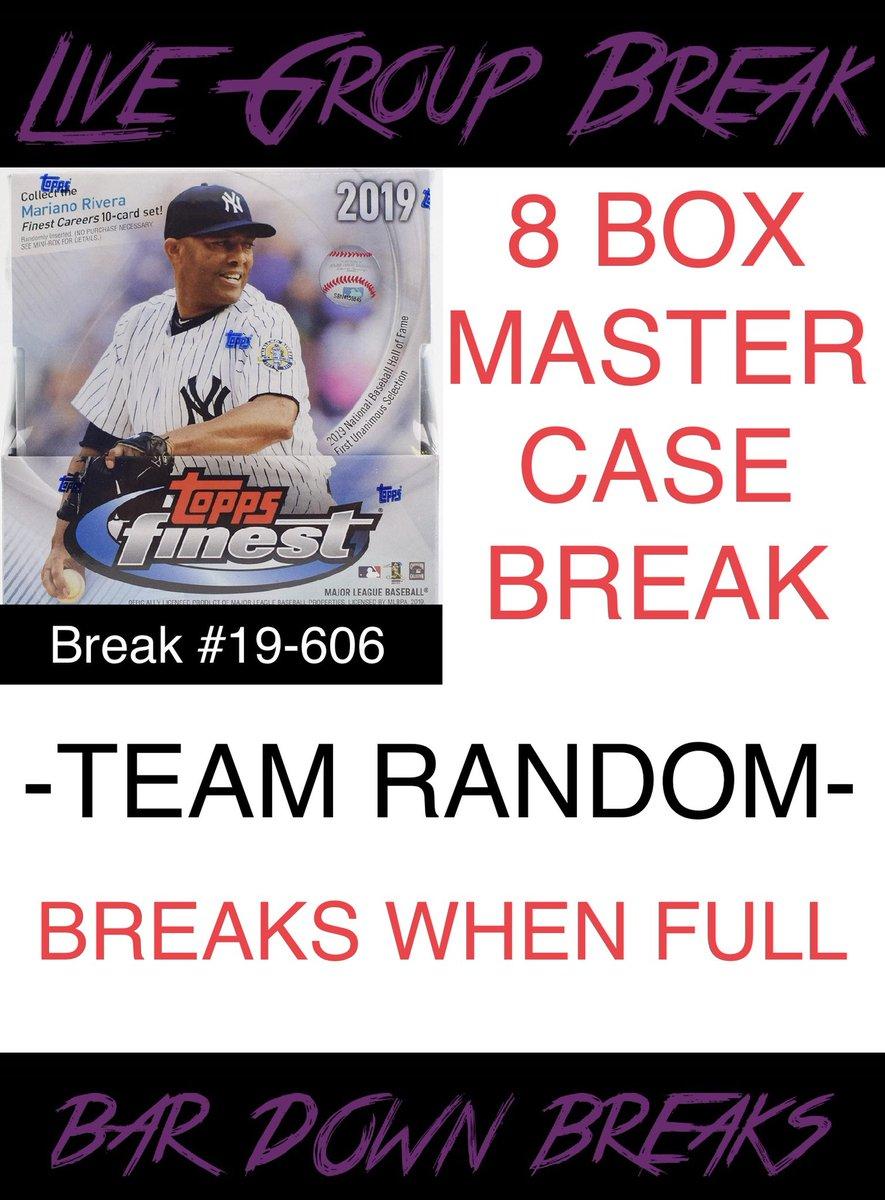 BASEBALL BREAK!   2019 Topps Finest Master Case  http://Bardownbreaks.com  28 spots still available.   #baseball #baseballcards #baseballbreaks #mlb #groupbreaks #casebreaks #theshow #thehobby #sportscardspic.twitter.com/LSG7DzwRz2