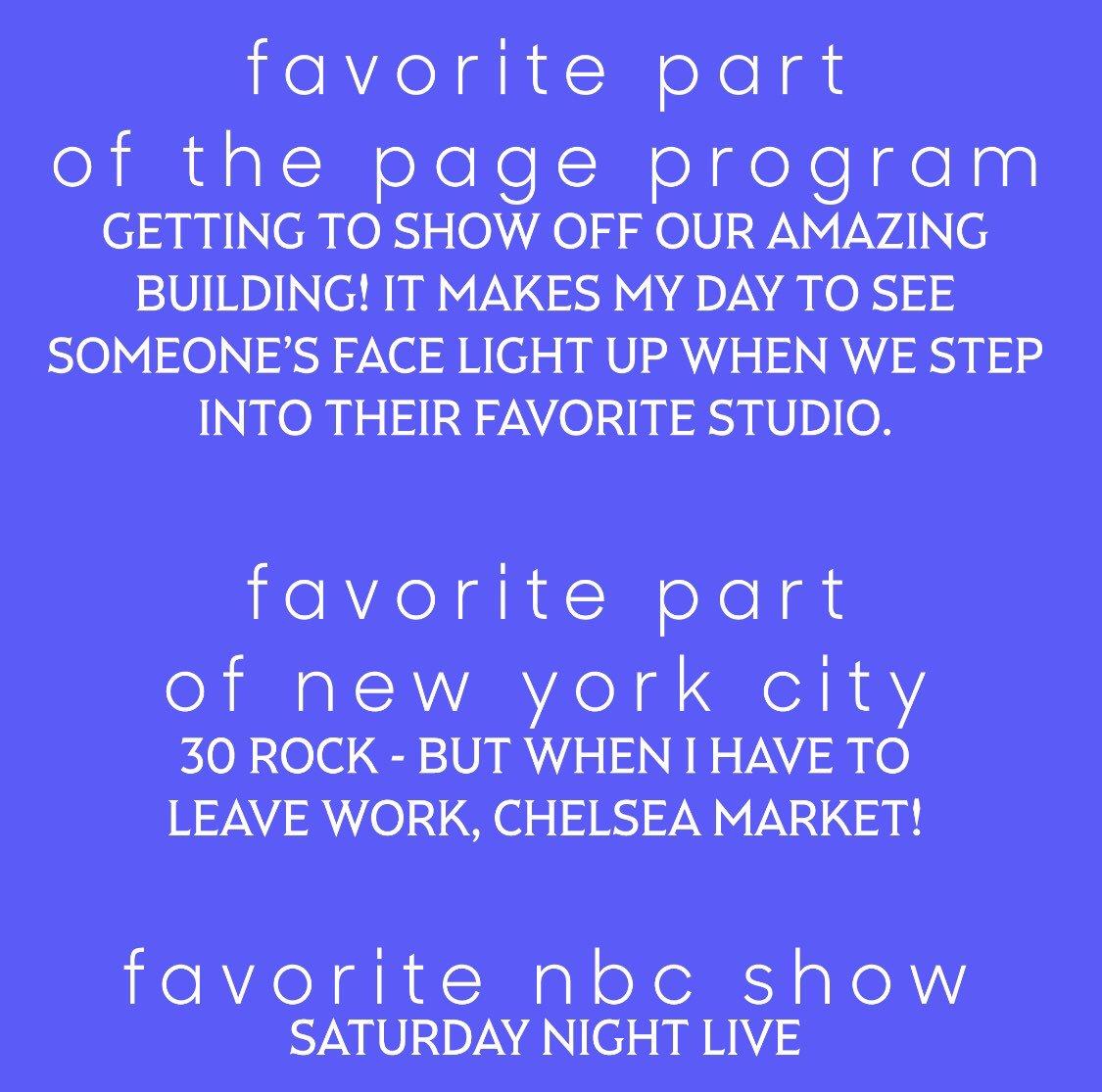 NBCU Page Program (@nbcuPageProgram) | Twitter
