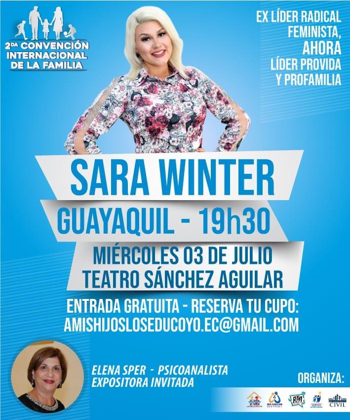 "Uživatel Cristina Valverde na Twitteru: ""Amigos! Sara Winter llega ..."