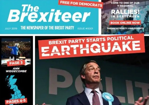 I see Nigel Farage has launched a pro-Brexit newspaper.