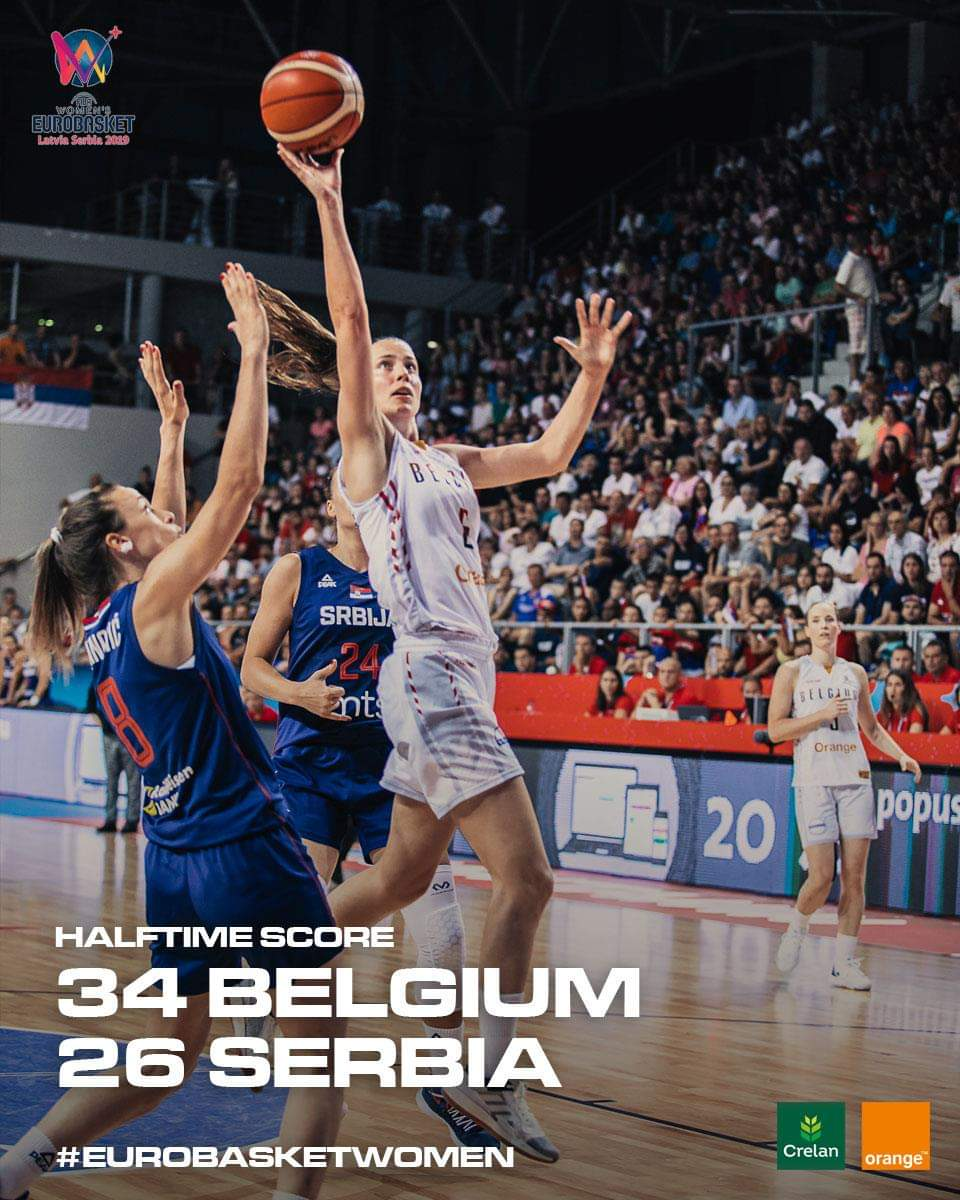 Belgian Cats On Twitter We Re Up 8 At The Half Vs Host Country Serbia A Win Immediate Qualification For The Fiba Eurobasketwomen Quarterfinals Go Cats Watch The