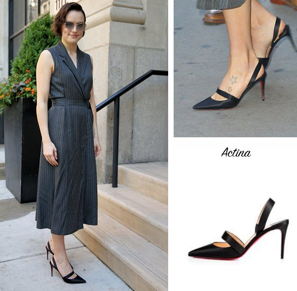 first rate bb4d8 b52c0 Daisy Ridley in Christian Louboutin Actina on Good Morning ...