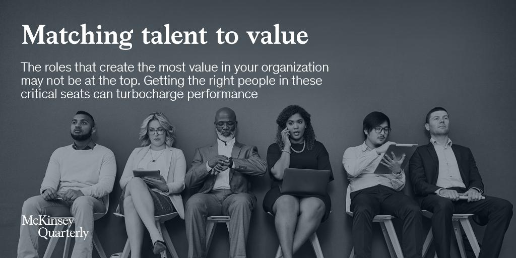 The roles that create the most value in your organization may not be at the top. Learn how to get the right people in these critical seats on our latest podcast. Android: bit.ly/2aKz70W iTunes: apple.co/2aG70y Transcript: mck.co/2LAnE5R