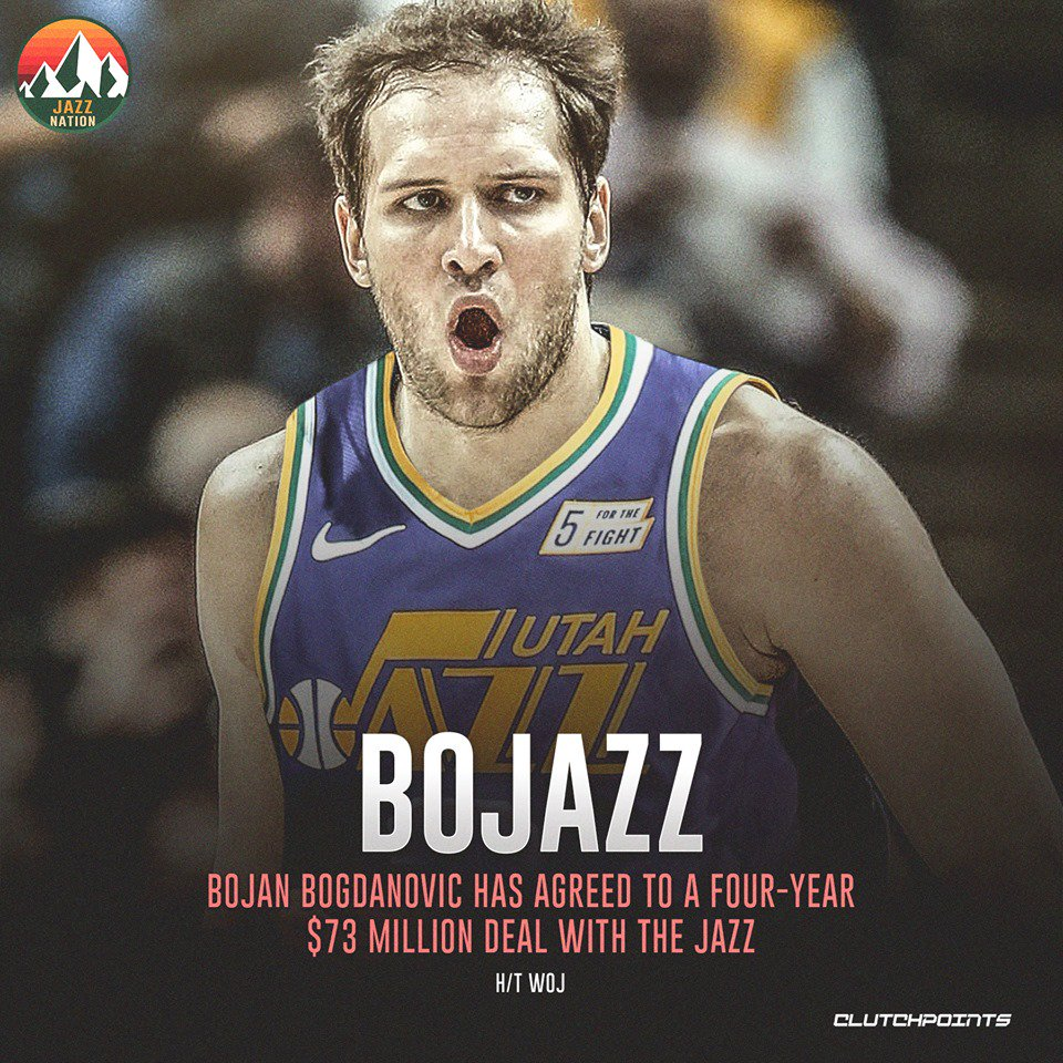 Image result for bojan bogdanovic jazz jersey twitter