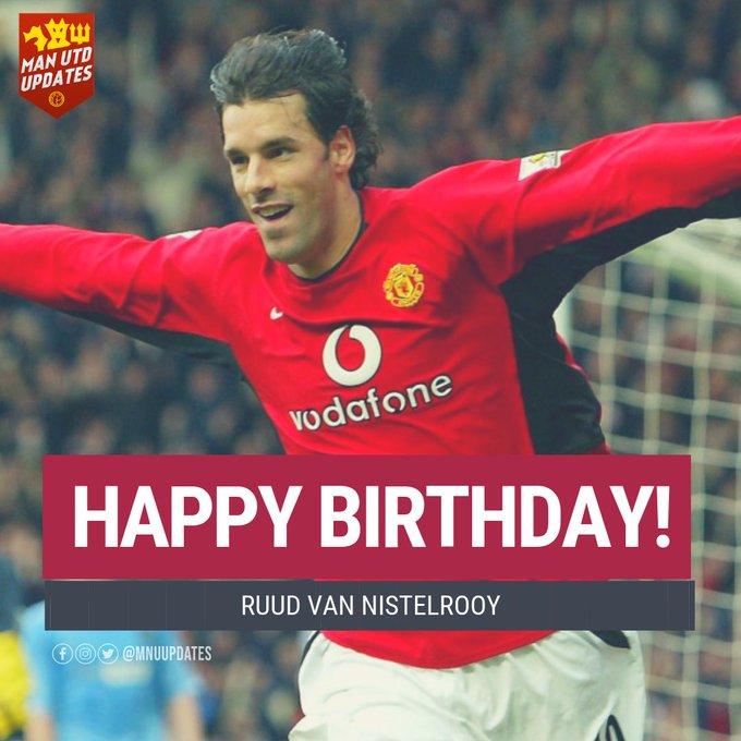 Happy 43rd Birthday to ex red Ruud van Nistelrooy.