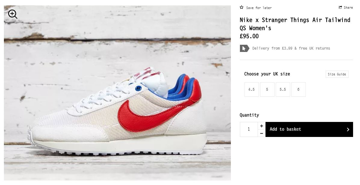 nike x stranger things air tailwind 79 og collection