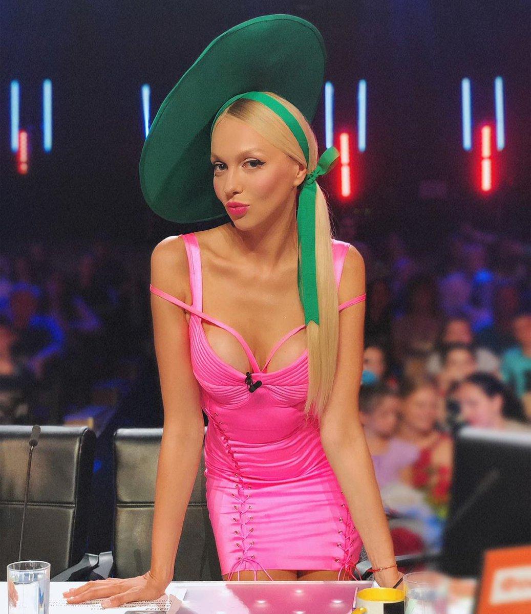 Оля Полякова на съемках Х-Фаткора