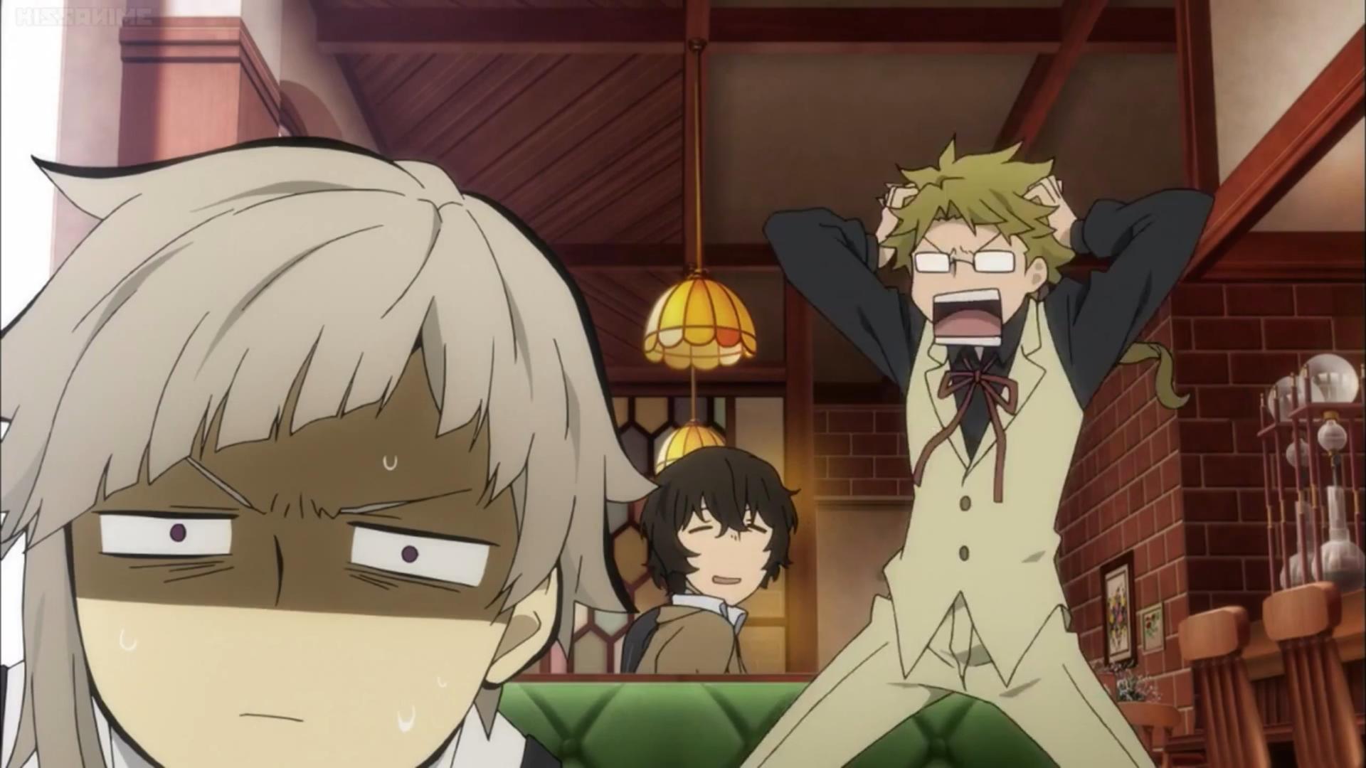 Прикольные, смешные картинки с аниме великий из бродячих псов