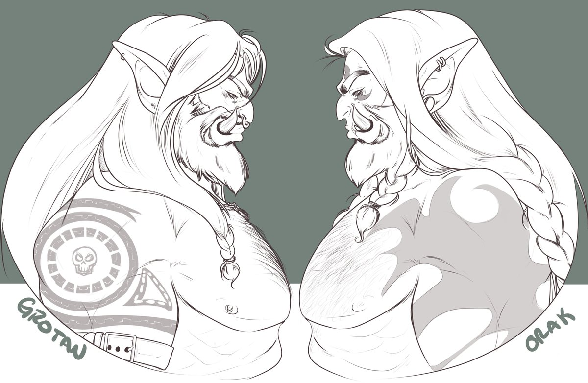 MORE ORCS, MORE ORCS, MORE ORCS, !!! Another commission for @EinYulci
