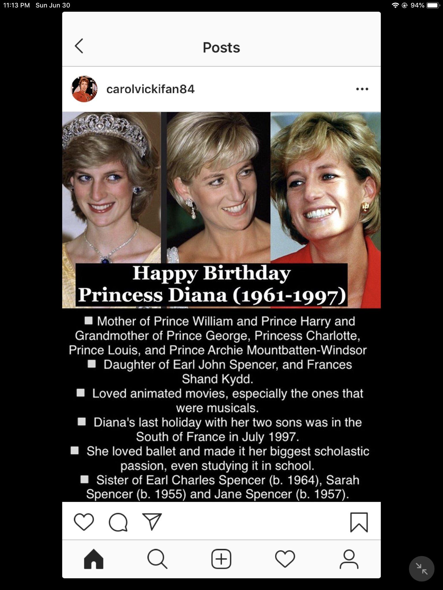 Happy Birthday!Princess Diana, Missy Elliot, Olivia de Havilland and Andre Braugher!