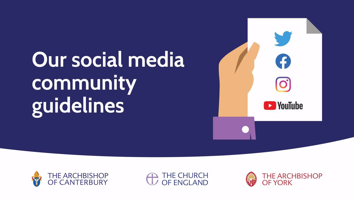 Today we've also launched the @churchofengland's first social media guidelines, which apply to content shared with the national Church's and Archbishops' social media profiles. Find out more at http://churchofengland.org/guidelines