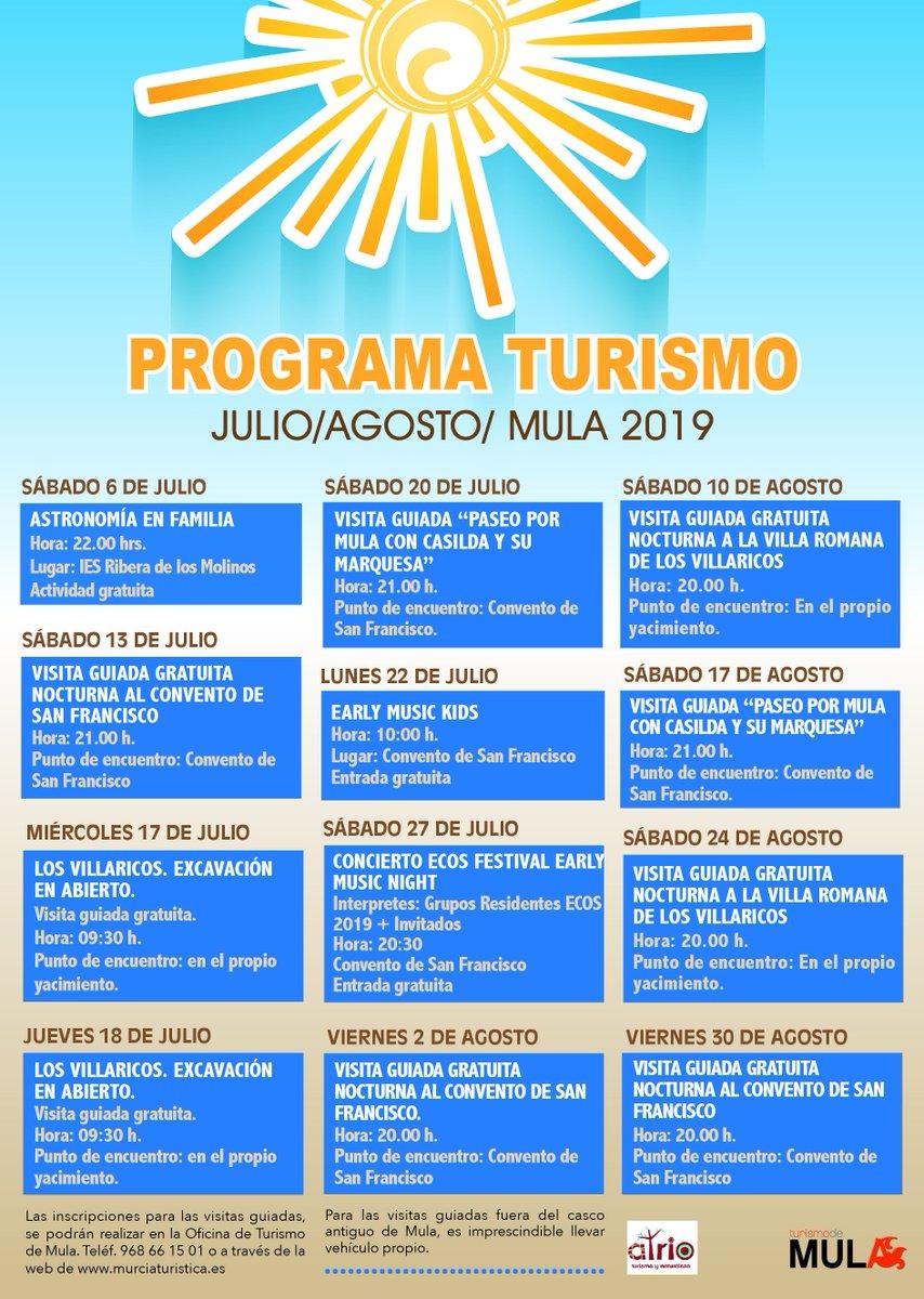 Programa Turismo Mula Julio-Agosto 2019