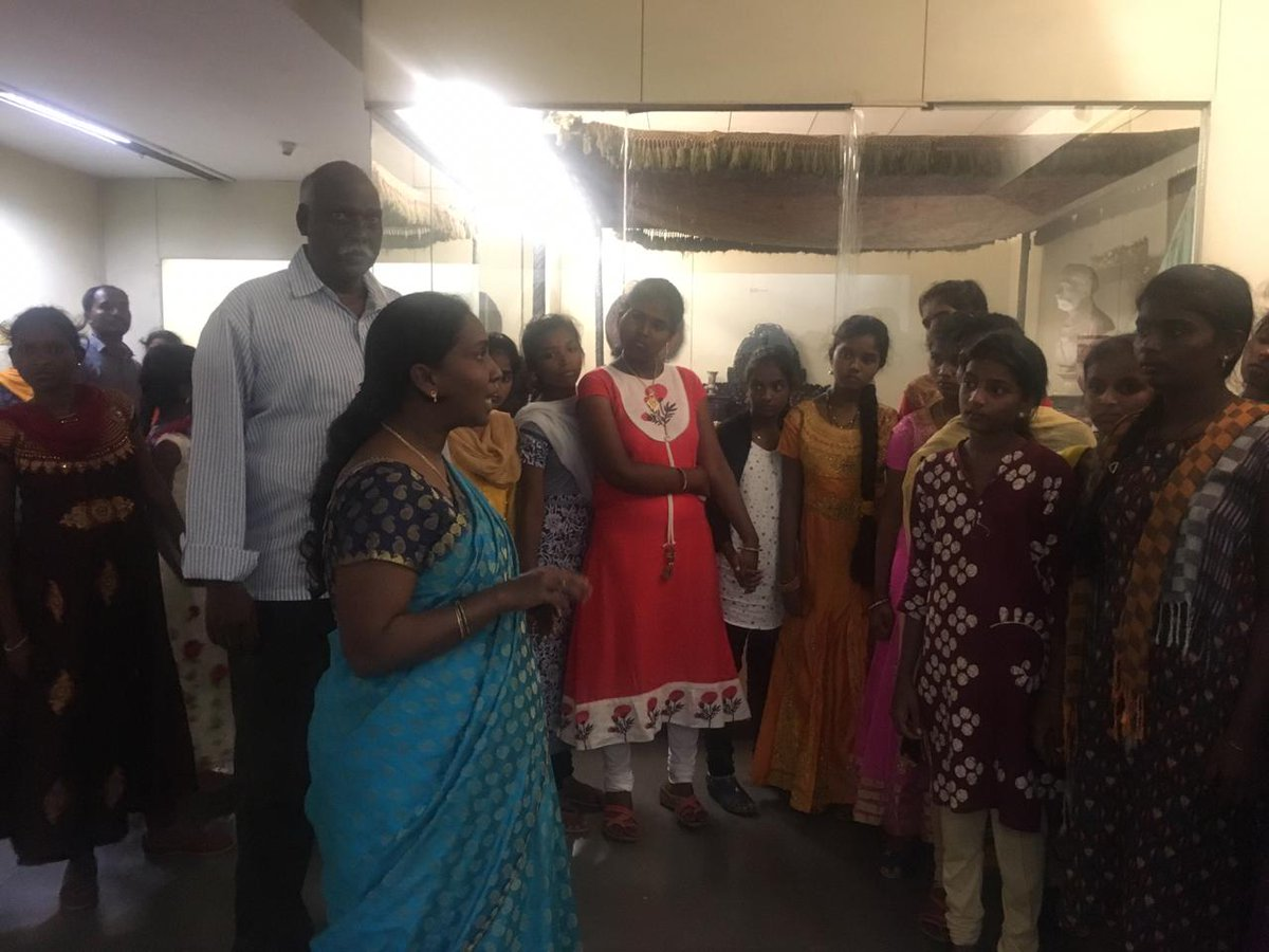 Visit to the museum by girl students of Tharuni - an organisation for the Welfare of Adolescent Girls & Women, Hyderabad on 30th June 2019! #underprevilegedstudents #womenwelfare #museumsandsociety