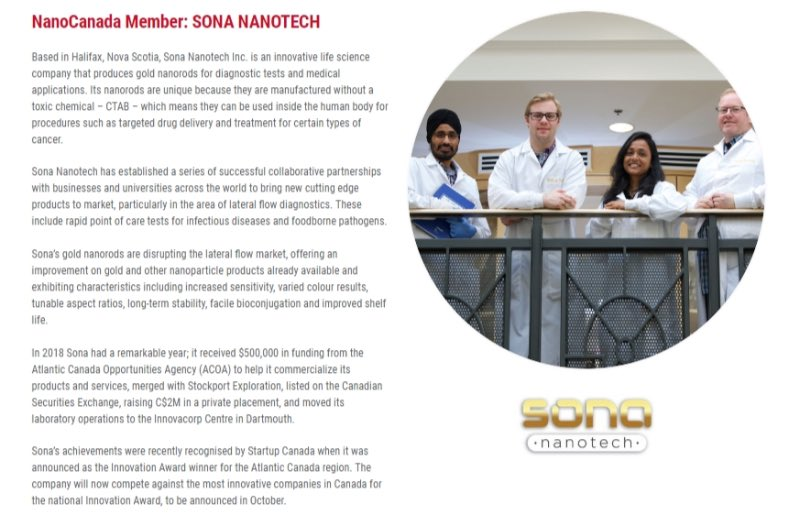 It's a very special #CanadaDay for us as Sona Nanotech is featured on the front page of @Nano_Canada today! #innovation #science #nanotechnology  https://t.co/IGaOpE1Y2e https://t.co/b6XFW2gYRv