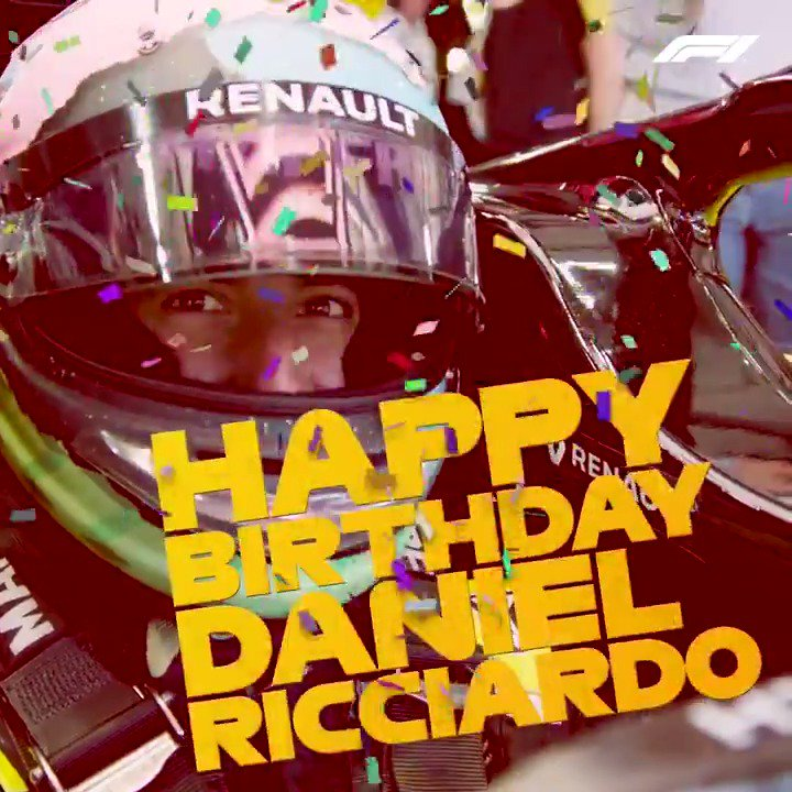 Happy birthday to the one and only @danielricciardo 🎉  Here's to growing older... but NEVER growing up! 😂  #F1