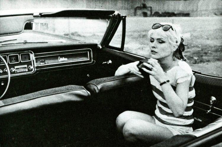 Happy Birthday to Deborah Harry, shown in this vintage photo relaxing in a Catalina Convertible