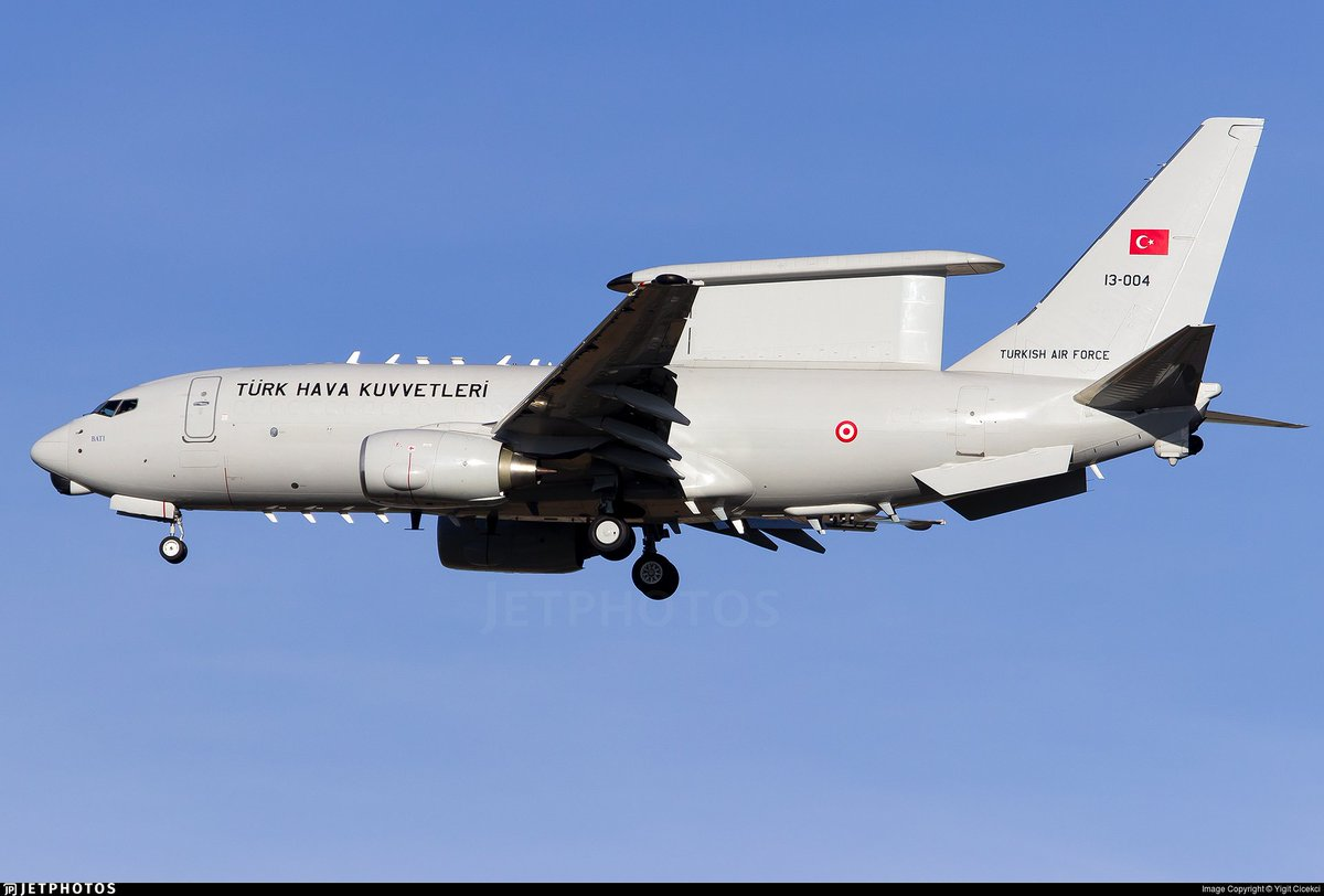 Risultato immagini per Turkish Air Force Boeing E-7 (13-004)