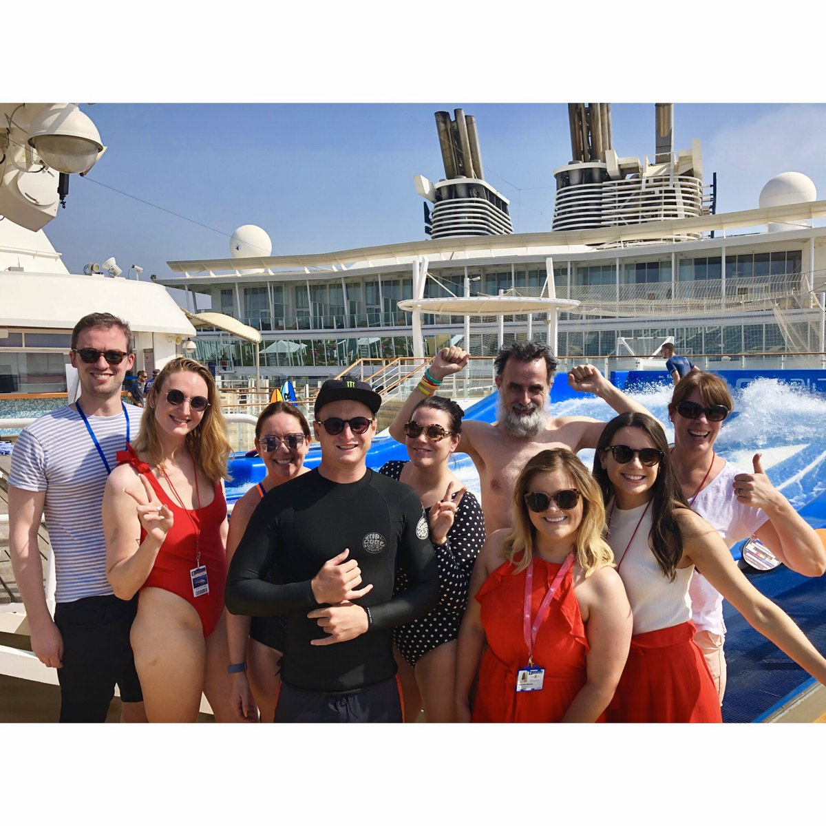 We had a fantastic weekend filming onboard #OasisoftheSeas in Barcelona with @MyRoyalUK for #SurfsUp 🛳🏄🏻♀️ a surf masterclass with a difference @jimmurty @irishdailystar @ornacunningham @IrishSunOnline @irishdailymail @Lindamaherdub @EVOKE @corinagaffey @speedmotionfilm https://t.co/18xDoMV4KL