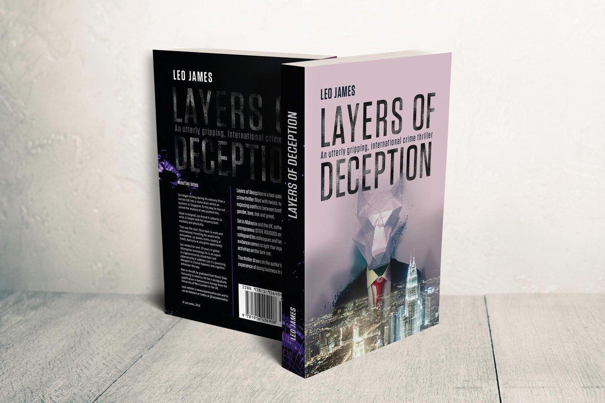 Layers of Deception by @LeoJamesAuthor  #Thriller #TechnoThriller #Noir #Crime #Novel #Book  #ad