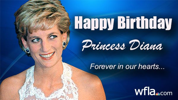 HAPPY BIRTHDAY PRINCESS DIANA: The Princess of Wales would have turned 58 today.