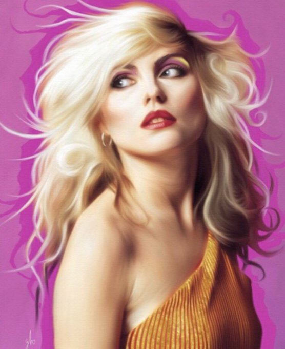 Happy birthday to my absolute queen. Much love to Debbie Harry. Painting: