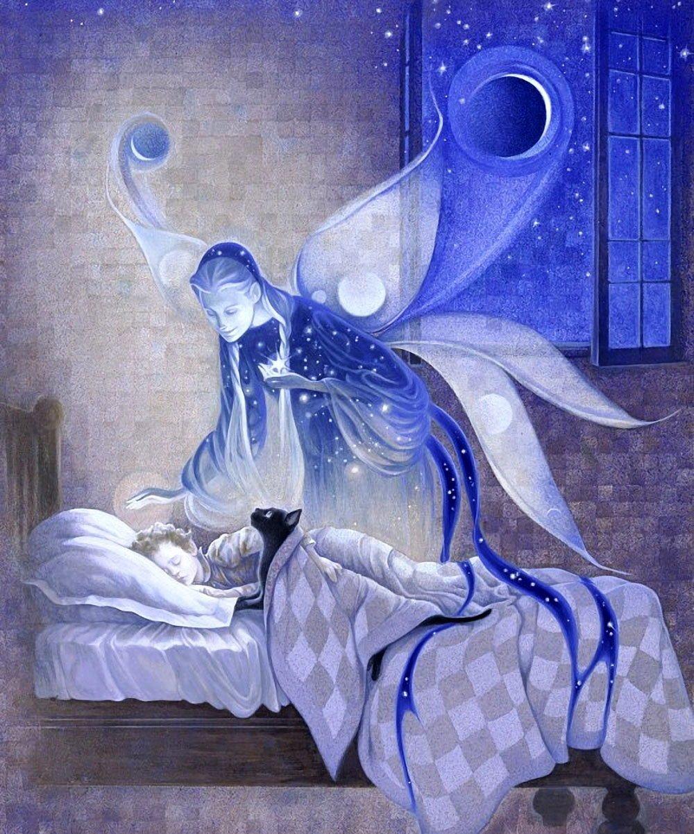 Открытка ночная сказка