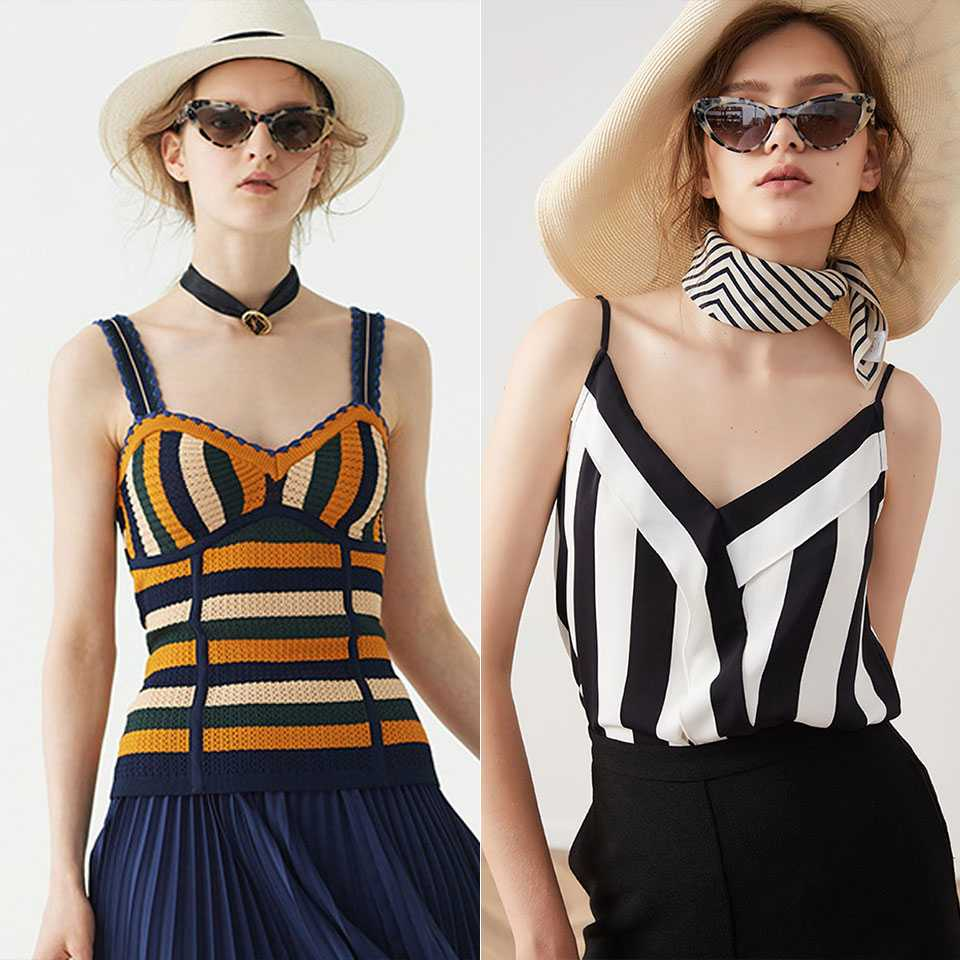 New in stylish tops, which one do you like better? shop left : http://bit.ly/2YhnkMx shop right : http://bit.ly/2YkyGj4  #Ezpopsy #stripedtop #sexytanks #summertop