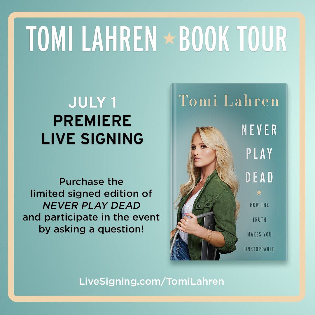 Taking calls and questions LIVE today 5pmET! livesigning.com/tomilahren