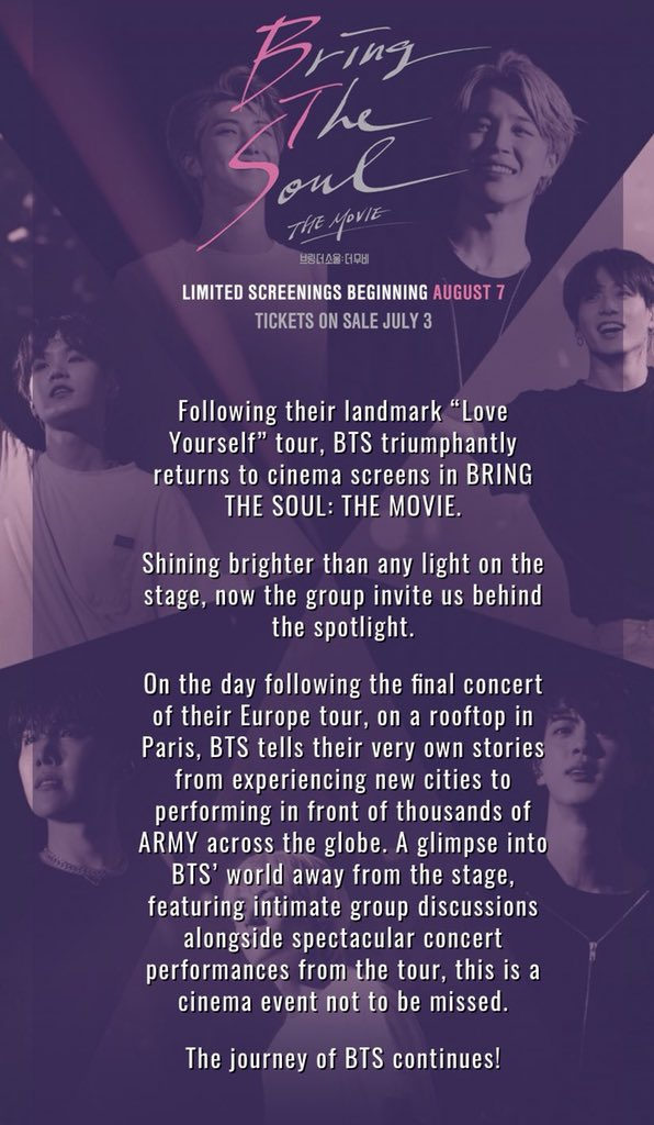 Bts Army Fest On Twitter Notice Bring The Soul The Movie