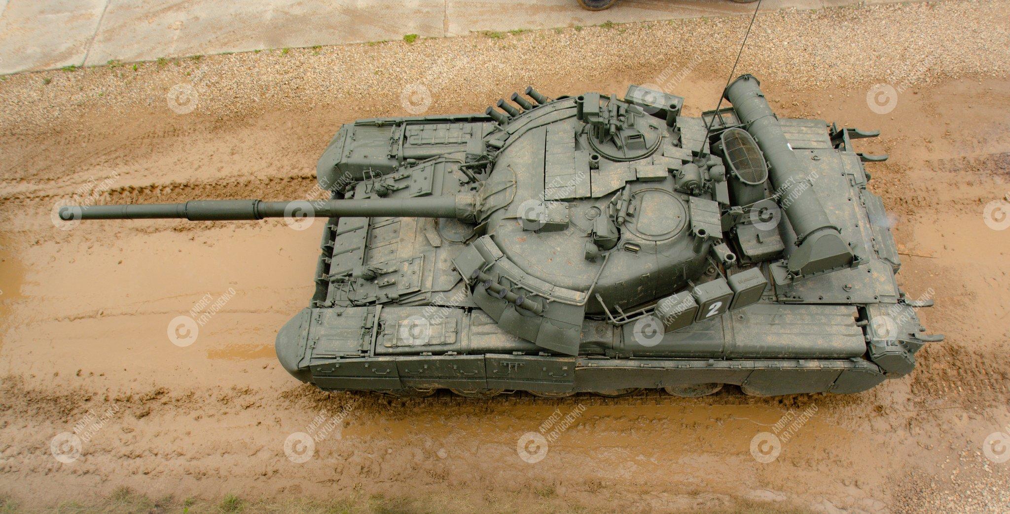 T-80U top view