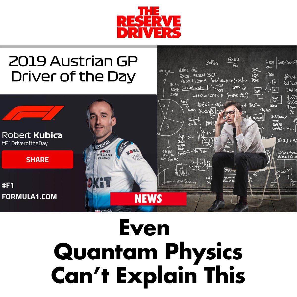 """I give up,"" said a @UniofOxford Physicist.  #AustrianGP #F1 #DriverOfTheDay"