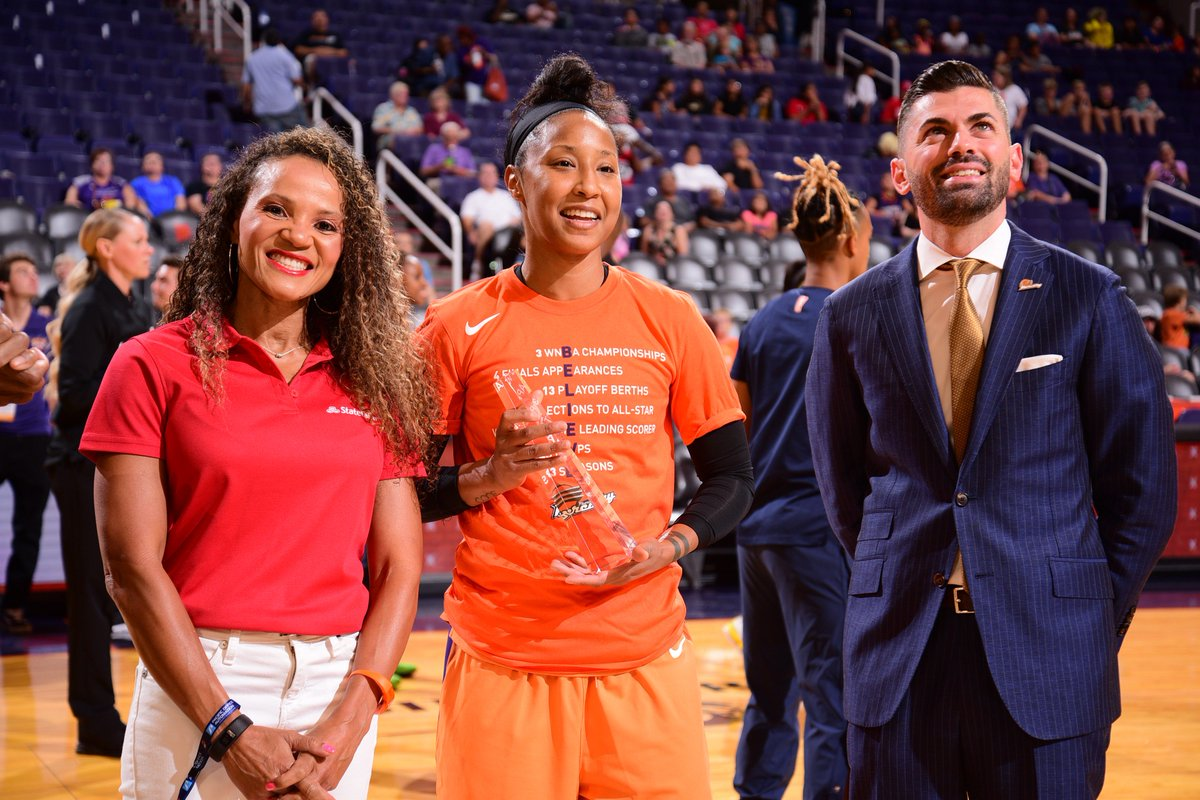 ICYMI: @PhoenixMercury's @BriannJanuary received the May @WNBA Cares Community Assist Award pres. by @StateFarm for supporting homeless families in Phoenix, working as a role model for young, at-risk girls, and helping in the LGBTQ+ community!  Learn more: http://wnba.com/statefarmcommunityassist …