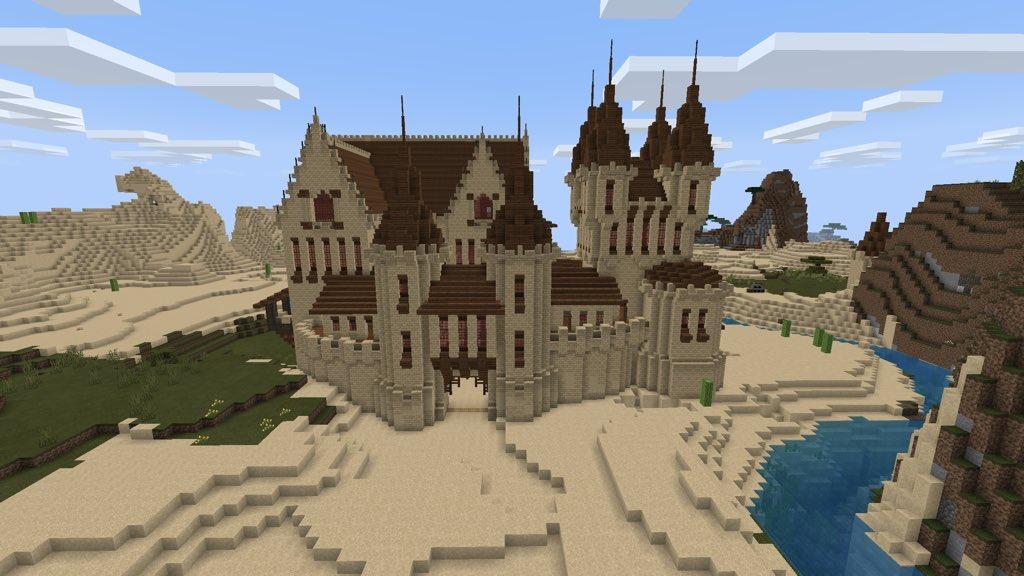 Minecraft Castle Outline
