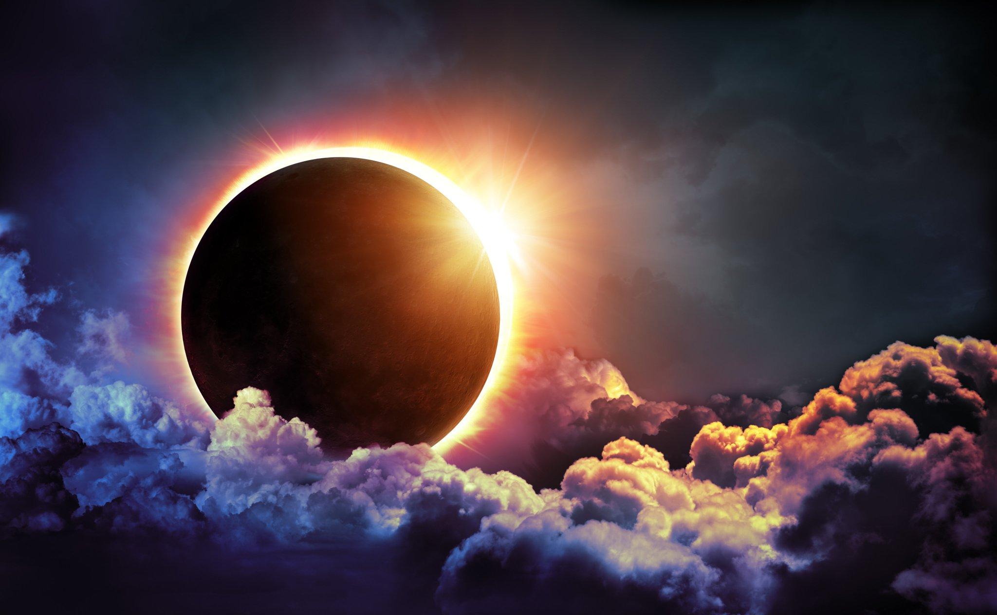 красивые картинки лунного затмения самый легкий