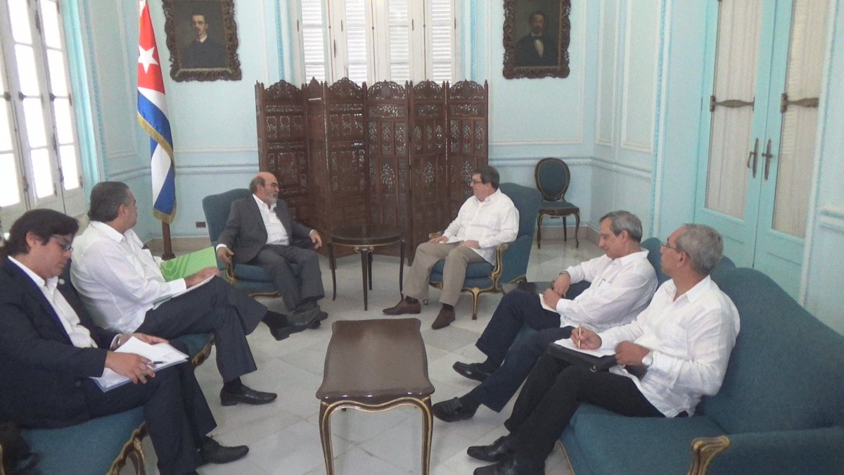 Chancellor of Cuba receives FAO Director-General