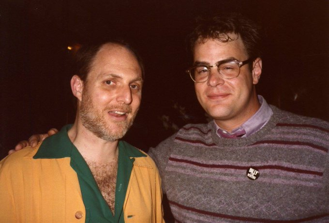 Happy Birthday Dan Aykroyd! At the Ghostbusters wrap party. b. July 1, 1952