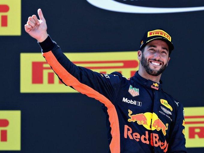 "Happy birthday Daniel Ricciardo       .The \""Honey Badger\""."