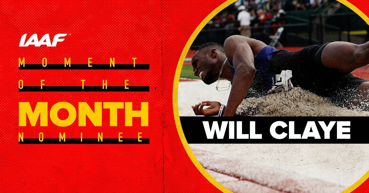 Retweet to see @WilliamClaye win 🇺🇸 Will Claye jumped a stunning 18.14m on Saturday (29) to record the third-best result in history 👏