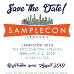 Image for the Tweet beginning: SAVE THE DATE! #SampleCon 2020