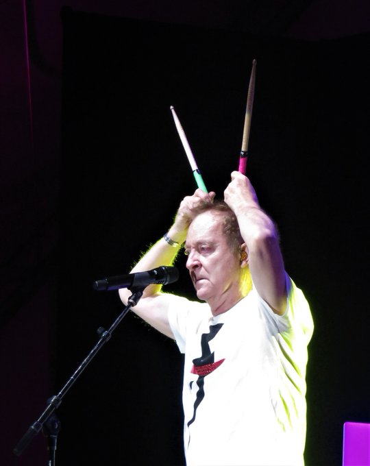 Happy Birthday to Fred Schneider of Pics taken at in 2018.
