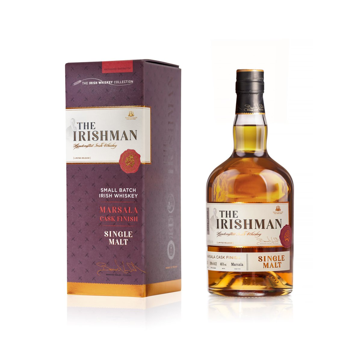 *Competition* Exclusive to The Irish Whiskey Collection, The Irishman Single Malt Marsala Cask @WalshWhiskey launches today at The Loop Dublin Airport.  We've a bottle to give away to 1 lucky follower. Just follow & RT to enter.  *Drink responsibly. T's&C's apply, Must be over 18