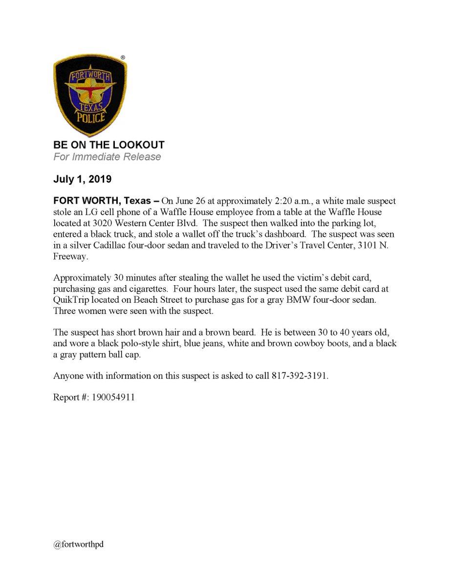 Fort Worth Police على تويتر:
