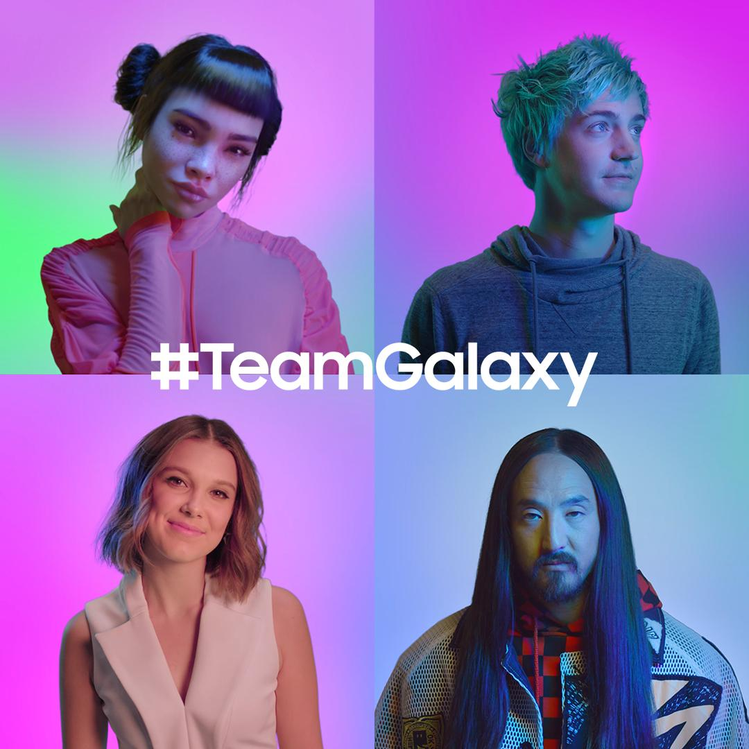 Meet #TeamGalaxy. @milliestopshate, @steveaoki, @ninja and @lilmiquela know that when you #DoWhatYouCant, anything is possible. Learn more: http://smsng.co/team-galaxy