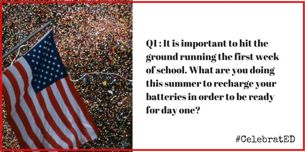 Question 1 #CelebratED 🎉