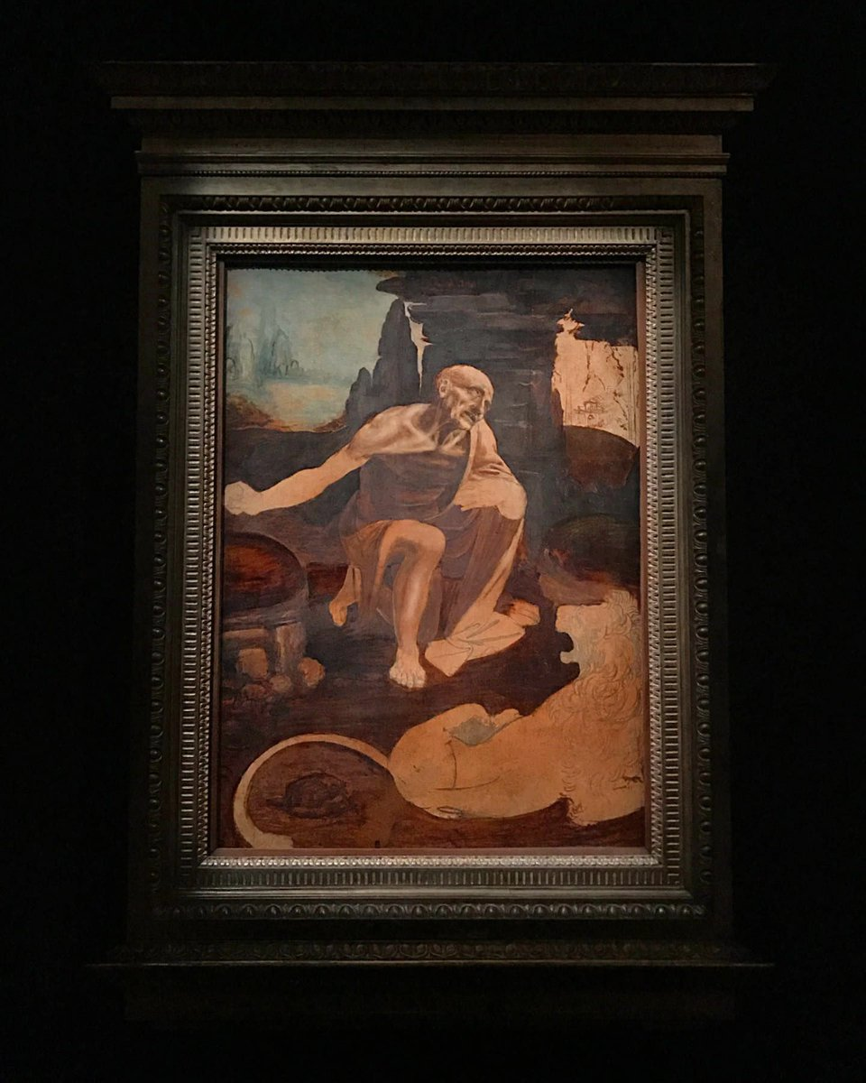 """Leonardo's Saint Jerome has arrived at The Met. ✨  Leonardo da Vinci's unfinished masterpiece """"Saint Jerome Praying in the Wilderness"""" goes on view to the public July 15. #Leonardo500 http://met.org/LeonardoSaintJerome…  Become a Member to see it this week. http://met.org/JoinToday"""