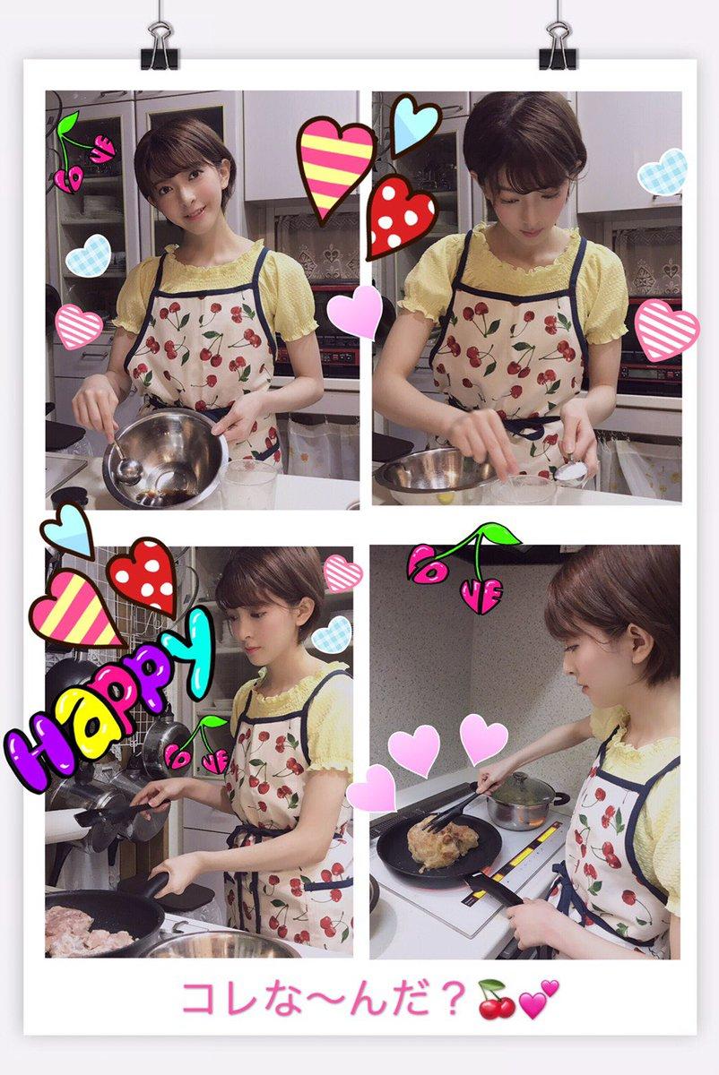 菅原りこちゃん、照り焼きチキンを作る