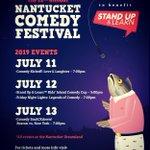 Image for the Tweet beginning: This coming weekend #nantucketcomedyfestival July