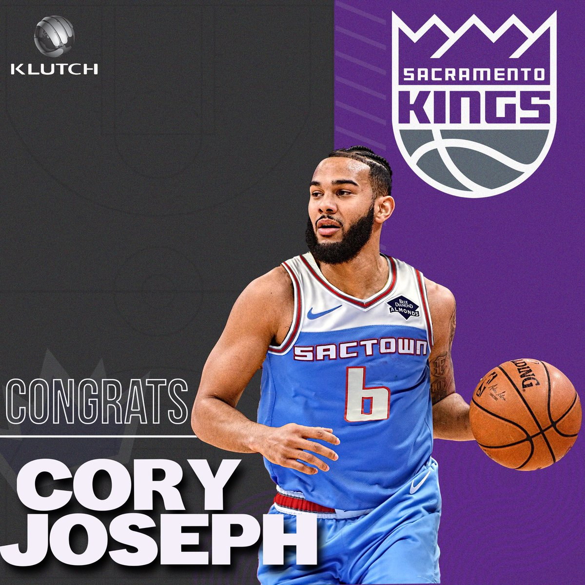 Hey Sactown, can't wait to get out there, meet the @SacramentoKings fans and get to work 💪🏽  #CJ6