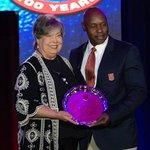 Image for the Tweet beginning: MHSAA's Franklin receives NFHS award
